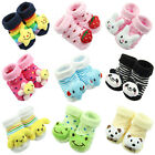1 Pair New Baby Girl Boy Cute Cotton Cartoon Anti-slip Soft Shoe Socks 0-6 Month