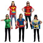 Female Superhero Costumes Adult T-Shirt Halloween Fancy Dres