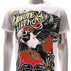 m120 Minute Mirth T-shirt Sz M Tattoo Vtg Rock Punk Dead Eagle Punk Rock Cotton