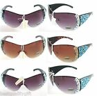NEW GENUINE SWAROVSKI CRYSTAL & TURQUOISE UV400 SHIELD SUNGLASSES+CASE-64029