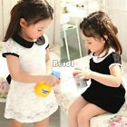 Baby Kid Girl Princess Formal Party Tutu Lace Gown Dress One-Piece Clothing BF00