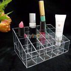 1/2 Clear 24 Makeup Lipstick Cosmetic Storage Display Stand Rack Holder  SS UK