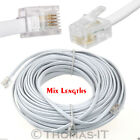 RJ11 to RJ11 4 Pin ADSL Phone Internet Router Modem Cable Lead 1M 2M 3M 5M White