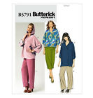 SEWING PATTERN Butterick B5791 Misses Fleece Knit Active Wear PANTS TOP TUNICS