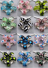 5pc Silver Core Colored Lampwork Murano Glass Beads Fit European Charms Bracelet