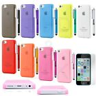 Colorful Heavy Duty Hybrid Rugged Hard Case Cover For iPhone 5C C+Stylus+ Film