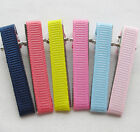 40/200PCS 40MM Prong Hair Clips Hairclips Covered /Grosgrain Ribbon Craft 4 Kids