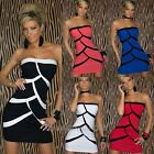 Womens Sexy Off Shoulder Dress Geometric Tank Style Dresses Clubwear Night wear