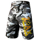 Grappling Shorts Cage Fight Shorts MMA Kick Boxing Camouflage Grey