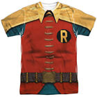 Batman Classic Robin Costume Sublimation Poly Adult Shirt S-3XL