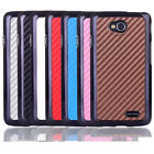 For LG Optimus L70 D320  Carbon Fiber Chrome Design hard case Cover
