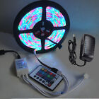 5M 300leds 3528 SMD RGB Led Strip Lights Lamps IR Remote Controller 12V 2A Power