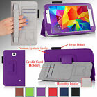 For Samsung Galaxy Tab 4 7.0 7 inch PU Leather Case Cover Stand + Accessories