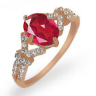 2.66 Ct Pink Mystic Quartz and Created Sapphire Rose Gold Plated Silver Ring