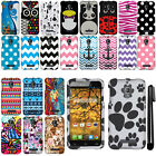 For Alcatel One Touch Fierce 7024W Design PATTERN HARD Case Phone Cover + Pen