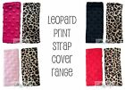 REVERSIBLE Baby Seat Belt Strap Covers - LEOPARD - Highchair, Pram, Carseat