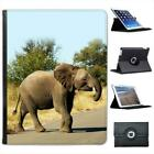 Baby African Elephant Strolling In Sun Folio Leather Case For iPad 2, 3 & 4