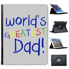 World's Greatest Dad Fathers Day Birthday Gift Leather Case For iPad 2, 3 & 4