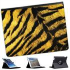 Tiger Skin Folio Wallet Leather Case For iPad 2, 3 & 4