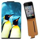 Penguins Leather Flip Case for Apple iPhone 4 4S