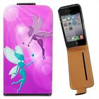 Flying Playful Beautiful Fairies With Magic Wands Leather Case for iPhone 4 4S