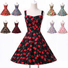 CHEAPEST 1 Vintage Rockabilly Cherry Retro Swing 50s 60s pinup Housewife Dress