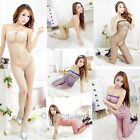 free Size NEW Sexy Lingerie Mesh Open Crotch Body Stocking Night fire Jumpsuits