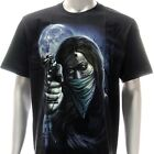 r154 M L XL XXL Rock Eagle T-shirt Tattoo Glow in Dark Skull Lady Zombie Motif
