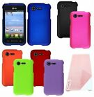 For LG Optimus Zone 2 VS415PP/Fuel L34C Cover Hard Snap Case + Screen Protector
