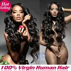 Unprocessed Brazilian/Peruvian/Indian/Malaysian Human Hair Extension 100g Bundle