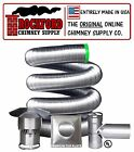 "4"" x 25' Flexible Chimney Liner Tee Kit (.006 316Ti Stainless Steel)"