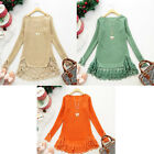 Hot Selling Women's New Designer Fashion Lace Loose Sweet Sweaters