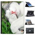 Cat Folio Wallet Leather Case For iPad Air & Air 2