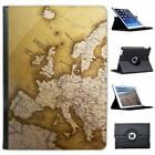 Close Up Of Europe On Globe Folio Wallet Leather Case For iPad Air & Air 2