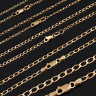 9Kt 9Ct SOLID Yellow Gold Long Curb Necklace Chain 1.8-4mm 45/50/55/60cm LCG