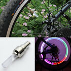 Cycling Bicycle Motorcycle Cap Tyre Tire Light Wheel Valve LED Flash Light US