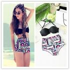 Hot SEXY Women Lady Bikini SET Push-up Bra High Waist Swimsuit Bathing Suit
