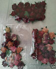 20 x 1.5 cm Mulberry Paper Rose Flower Heads Cardmaking Cake Decorations & Craft