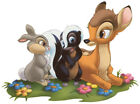 "7-11"" DISNEY BAMBI THUMPER FLOWER WALL STICKER GLOSSY BORDER CHARACTER CUT OUT"