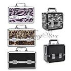 Pro Aluminum Makeup Train Case Jewelry Box Cosmetic Lockable Artist Strap Bag