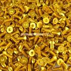 GOLD M6 Pro Alloy Countersunk Screw Bolt Allen Key Universal (choice of length)
