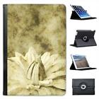 Vintage Chrysanthemum Flower Folio Leather Case For iPad Mini & Retina