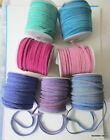 2 Metres x 3mm wide x 1.5mm thick FLAT REAL SUEDE LACE - Choice of seven colours