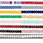 4 Czech Glass Fire Polished Faceted Rondelle Spacer Beads 5mm x 4mm Spacers