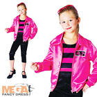 50s Rock N Roll Girls Fancy Dress Pink 50s Jazz Kids Childrens Costume Outfit