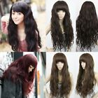 New Womens Black/Brown/Red Long Hair Wavy Curly Full Wigs Cosplay Costume Party