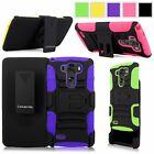 For LG G3 D830 / D850 / D851 / VS985 Hard Soft Holster Belt Clip Kickstand Case