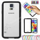 TPU Gel Bumper with Clear Hard Back Case Cover & Protector For SAMSUNG Galaxy S5