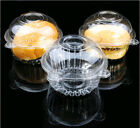 50/100 Clear Plastic Single Cupcake Case Muffin Pod Dome Holder Cup Cake Boxes