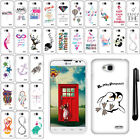 For LG Optimus L70 D325 Art Design PATTERN HARD Protector Case Phone Cover + Pen